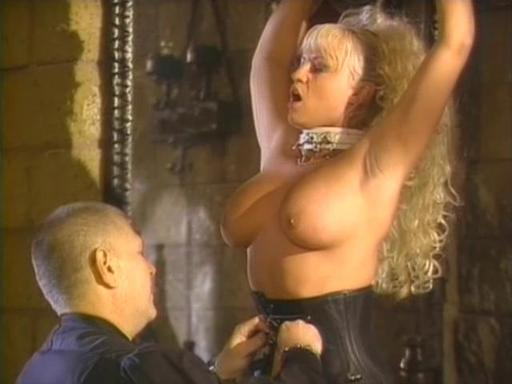 A naughty busty blonde gets a lesson complete with thrashing and clamping.