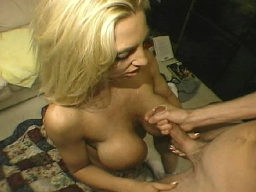 2 blondes with big tits get with 2 guys: Plenty of blowjobs, pussy eating,hardcore sex with one of the girls getting a facil and the other cum all over her biog tits.