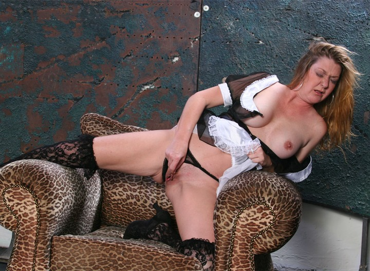This sexy maid really knows how to polish her pussy.  She's a dirty slut who need to rub and rub that coochie until she's wet, shiny, and polished.  You'll want her polishing your balls after this!