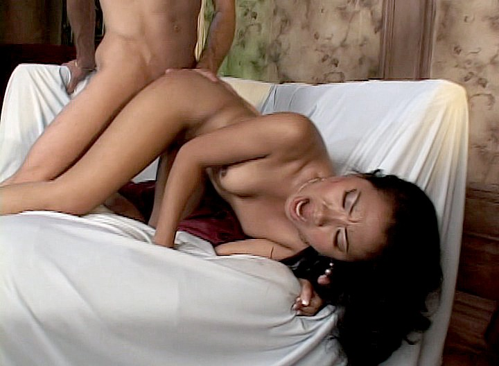 This cute young Asian is about to get the biggest cock she's ever had up her tight little asshole! This huge rod fills her really good, and you can hear that she loves it a lot!