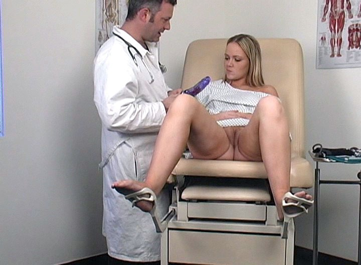 Amber came to the clinic to have better orgasms. Our doctor's got quite a few machines to help her get what she's looking for! We can surely say that our specialist has what it takes to resolve all those cutie's orgasm problems!