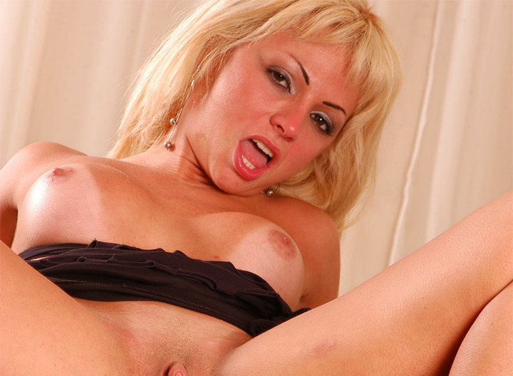 This blond chick felt like having two nice big cock just for her today. She's a fucking horny whore and she's going to get what she deserve! No holes will be left untouched on that nice and tight body of hers!