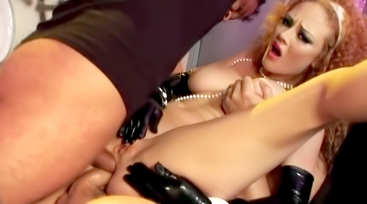One cock is never enough for this redhead slut. Even when she gets her ass fucked, she needs two in the same hole or she doesn't feel anything!