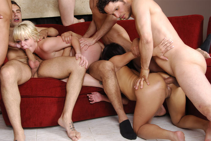 Realllly nasty gangbang with M...