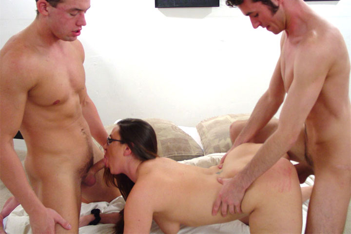Dirty mom Sasha dreams of getting poked by 2 dicks for a long while. Will someone satisfy this hungry MILF?