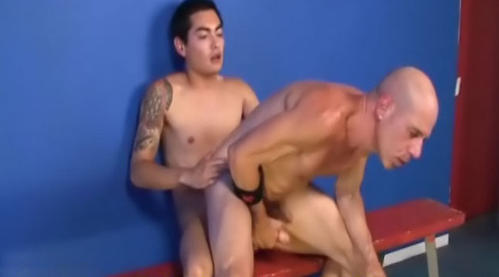 Come see this hot GILF get his ass pierced by a hard cock! These two guys complete each other's motion and get it on hardcore style!