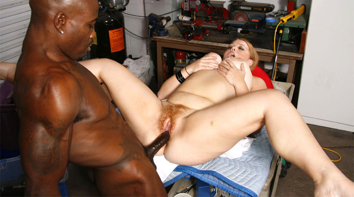 Sierra uses her flappy knockers to please a long hard black dick!