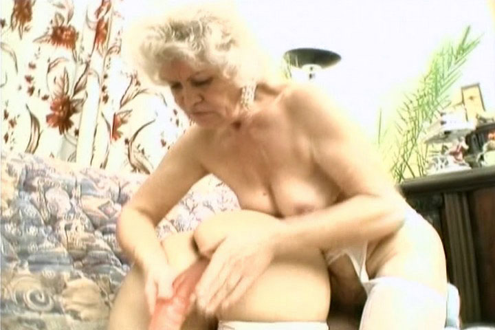 Large dildo for 2 grannies, as they share the thing!