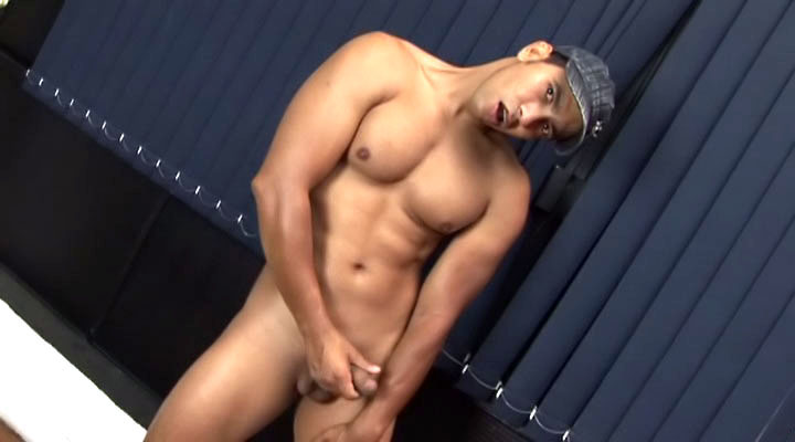 Hot latin guy strokes his big cock in front of the camera just for you! See how big the load is!