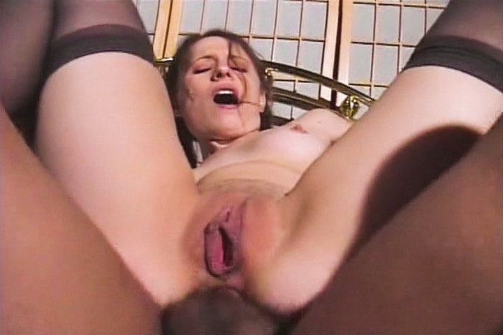 Sexy little brunette gets her wet pussy slammed before getting a big dick in her tight little asshole