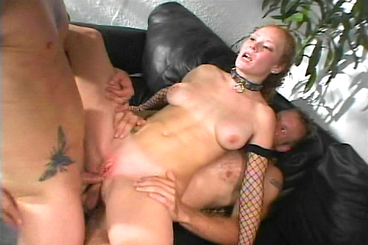 Submissive blonde gets double ...