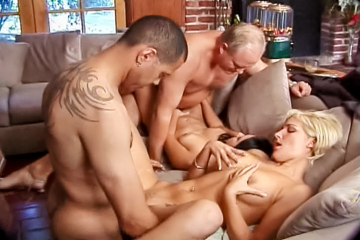 Group sex errupts in the livin...