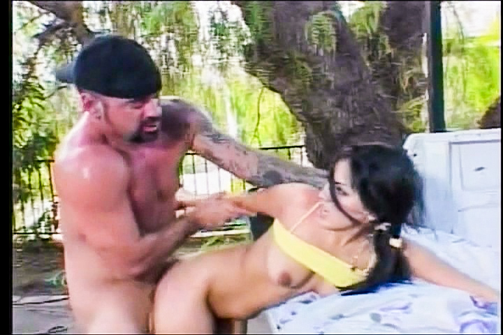 Horny Asian girl begs her friend to fuck her on the back of a truck. He eats out her hot pussy, and fucks her silly until blowing a load of hot cum all over her face and tits.